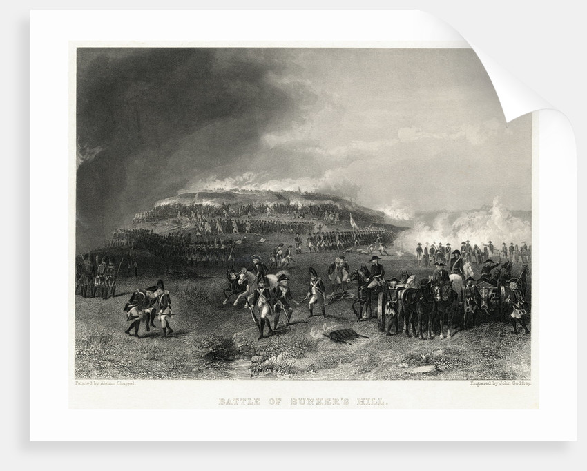 Engraving of Battle of Bunker Hill by Corbis
