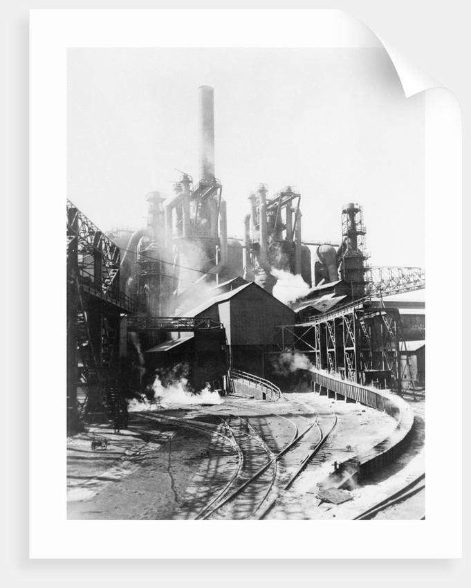 Blast Furnace at Steel Mill by Corbis
