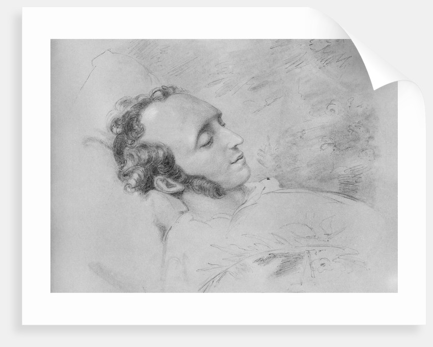 Drawing of Felix Mendelssohn on His Deathbed by Corbis