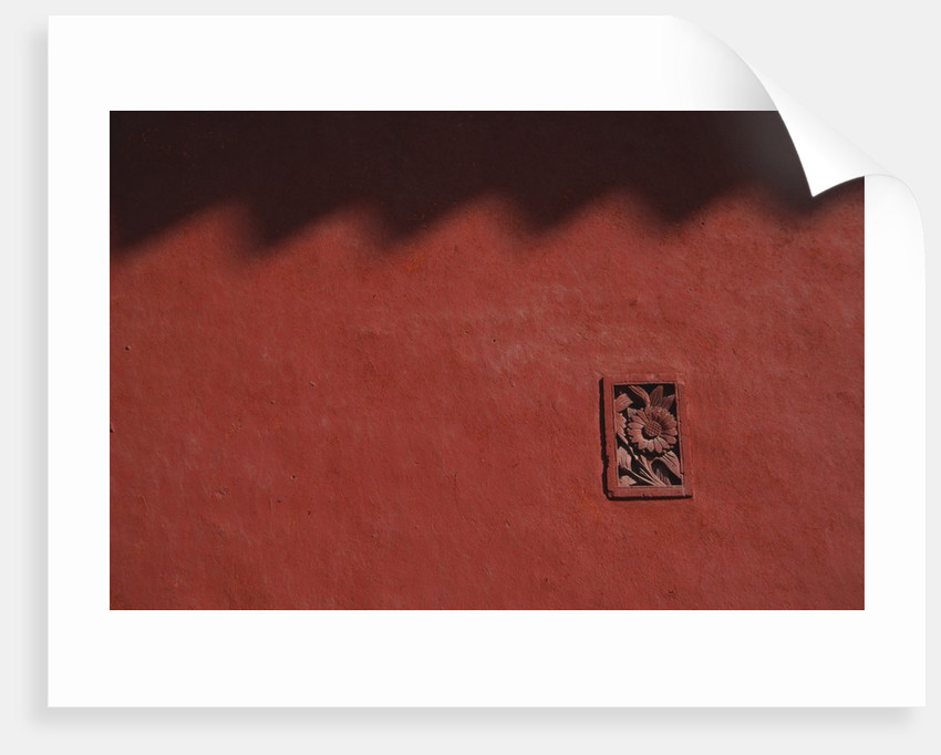 Brick Carving of Flowers on Forbidden City Wall by Corbis