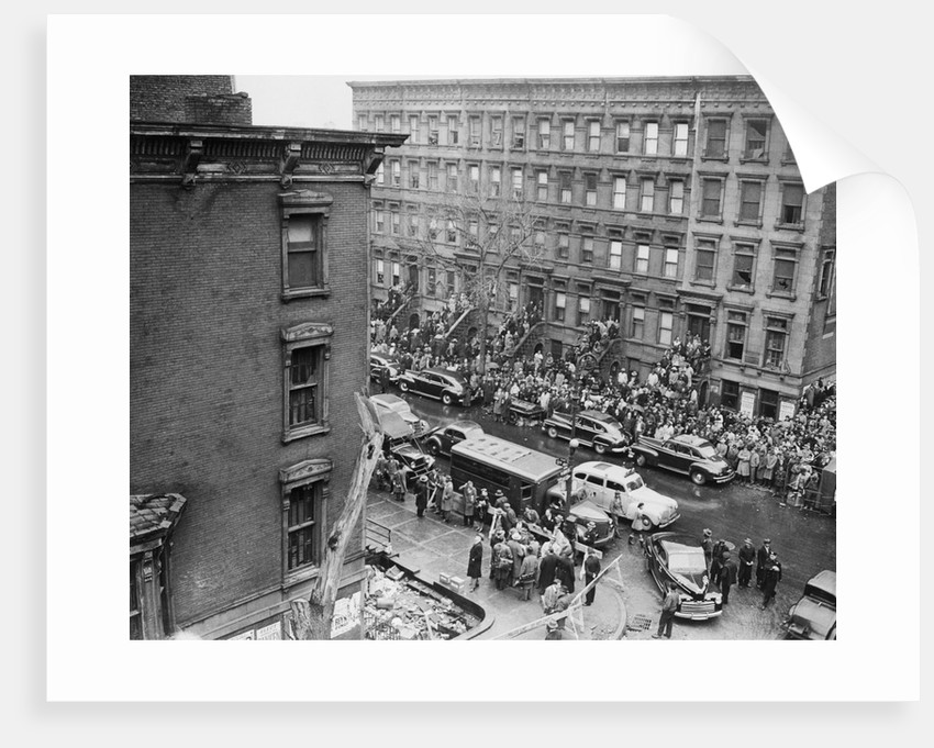 Crowds Watching Police Searching Collyer Mansion by Corbis