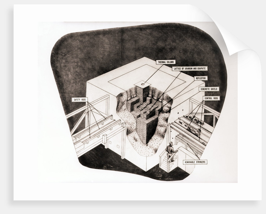Cross Section of Nuclear Reactor by Corbis