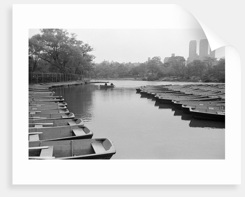 Empty Boats in Central Park by Corbis