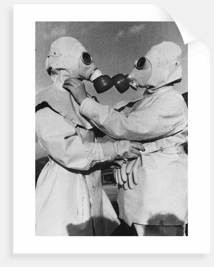 Air Raid Wardens in Radiation Suits by Corbis