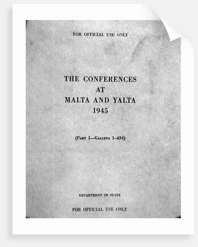 Cover of The Conferences at Malta and Yalta by Corbis