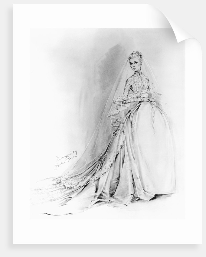 Grace Kelly's Cathedral Wedding Gown by Corbis