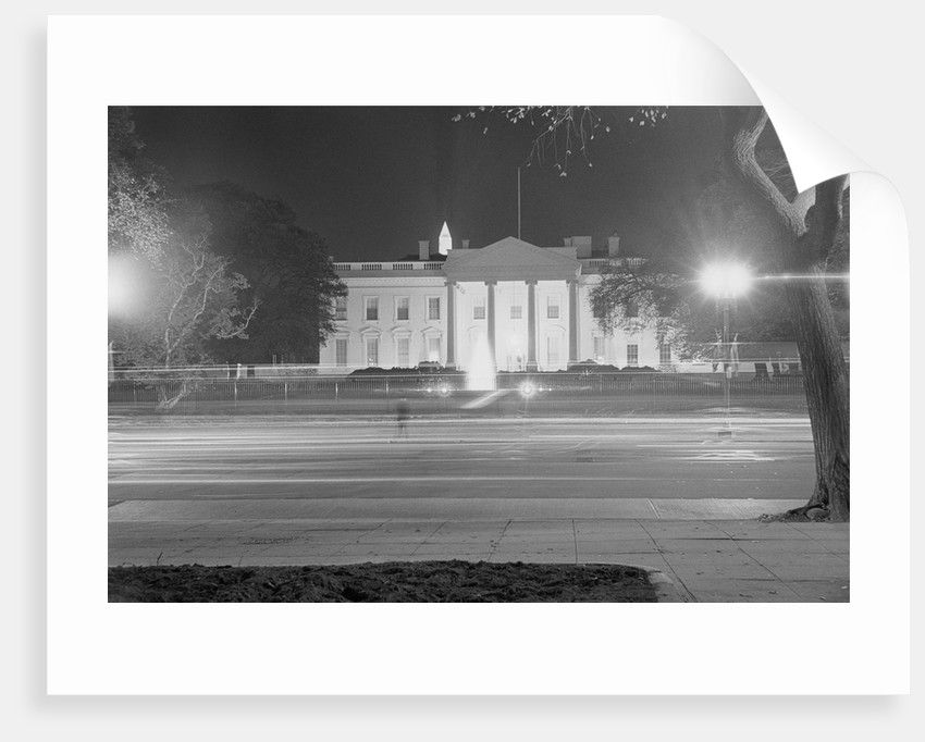 Exterior of White House at Night by Corbis