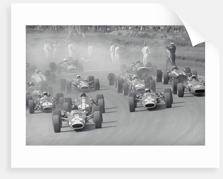 Cars Racing in a Grand Prix by Corbis