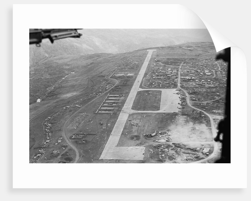 Aerial View of Airstrip and Air Force Base by Corbis