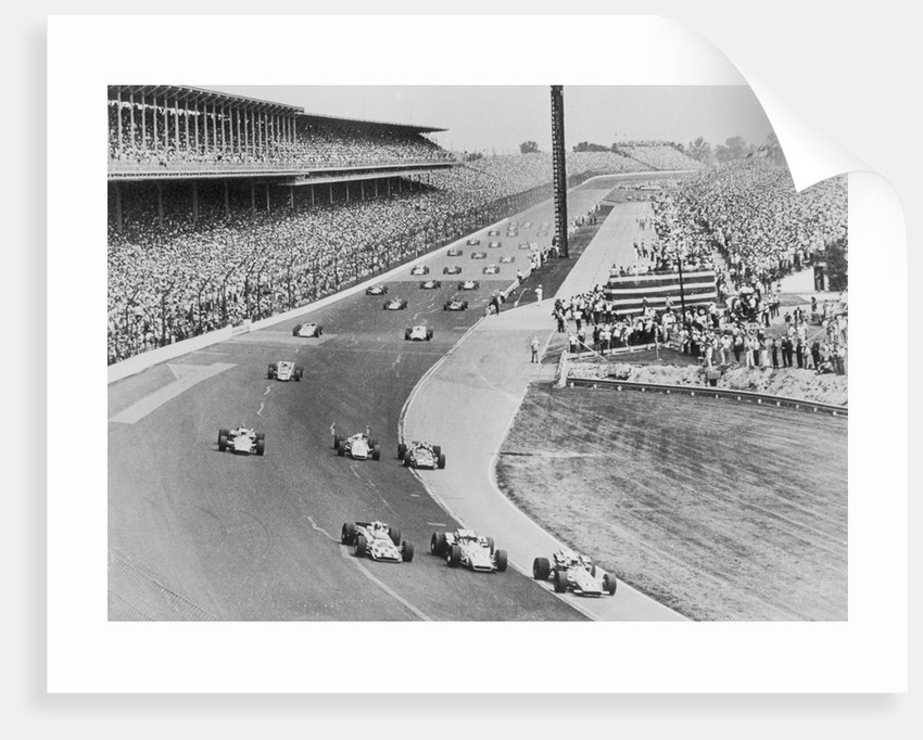 Bobby Unser and Fellow Racers by Corbis