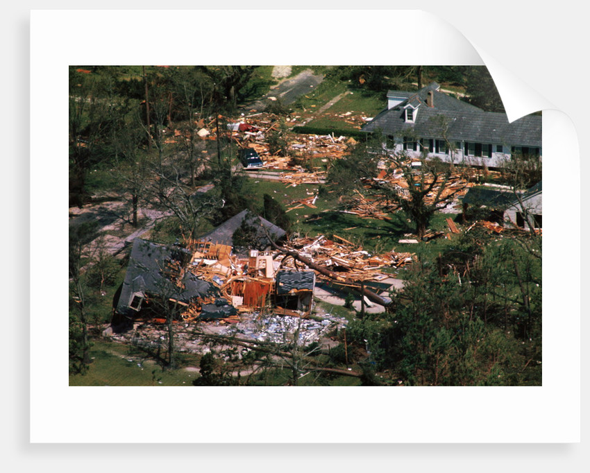 Damage Left by Hurricane Camille by Corbis