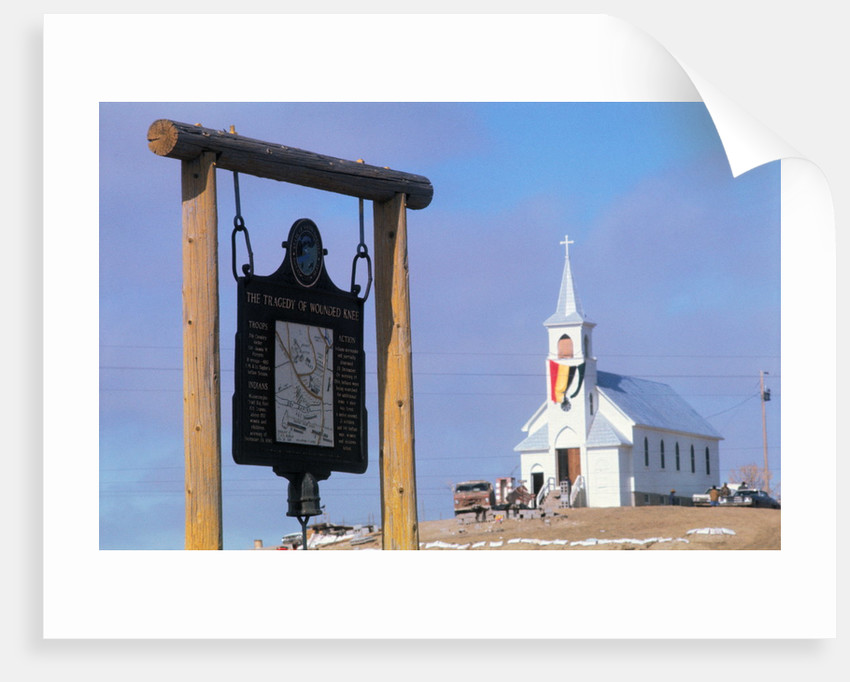 Wounded Knee Memorial by Corbis