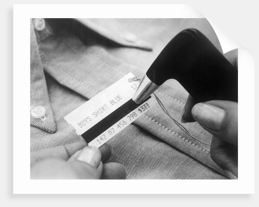 Close up of Price Tag with IBM Magnetic Stripe by Corbis