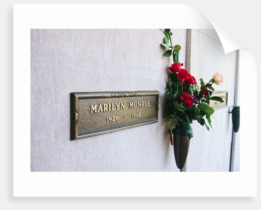 Crypt of Marilyn Monroe by Corbis