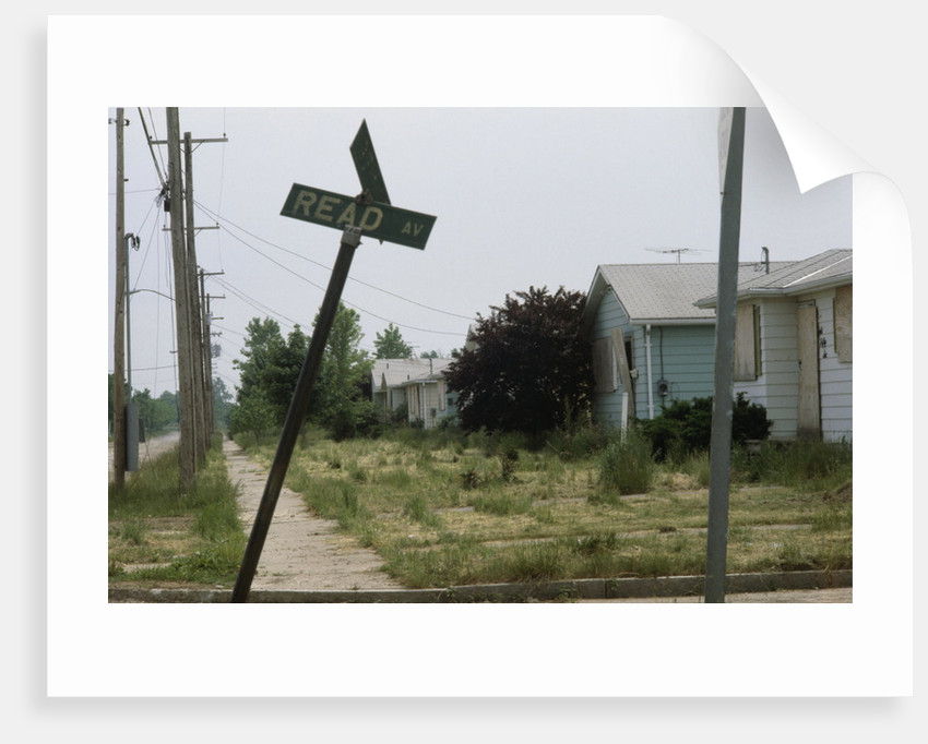 Derelict Suburban Street by Corbis
