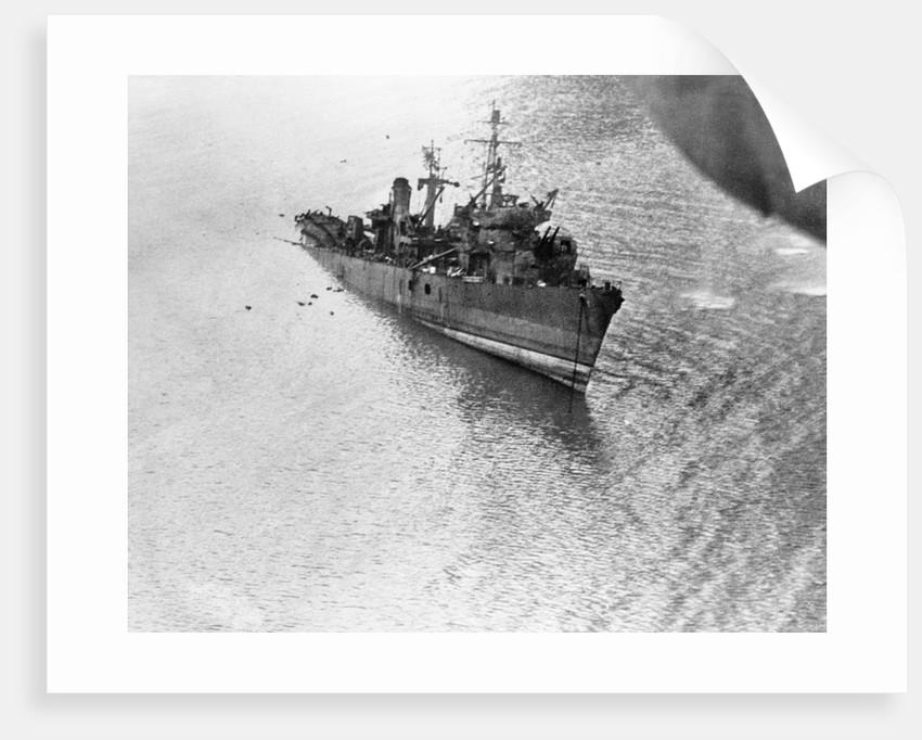 Sinking Japanese Ship by Corbis