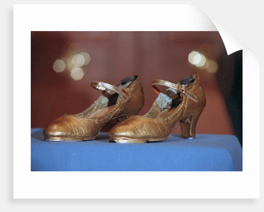 Display of Shoes Donated by Ann Miller by Corbis