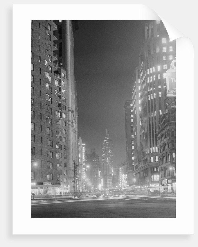 Columbus Circle Toward Empire State Building by Corbis