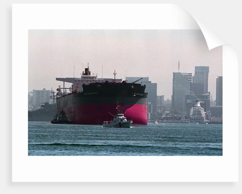 Exxon Mediterranean Departing San Diego Bay by Corbis