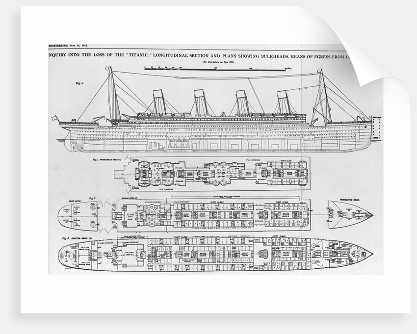 Diagram Of Titanic Posters  U0026 Prints By Corbis