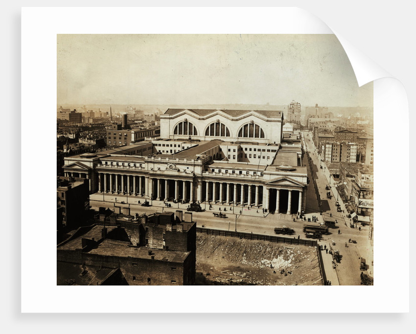 Aerial View of Pennsylvania Railroad Station by Corbis