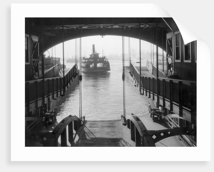 Ferry Landing in Manhattan by Corbis