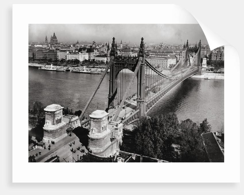 Bridge over Danube River of Budapest by Corbis