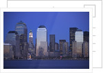 Skyline of Manhattan at Twilight by Corbis