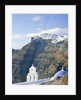 Church and town view, Cyclades, Santorin, Greece by Corbis