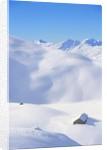 Hut in mountains, winter, Lenzerheide, Graubunden Canton, Switzerland by Corbis