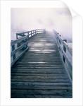 Boardwalk in fog, Yellowstone National Park, Wyoming by Corbis