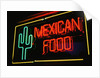 Mexican restaurant neon writing by Corbis