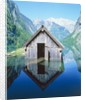 Fisherman's house in the Ober Lake, Bavaria, Germany by Corbis