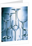 Still life of different wine glasses by Corbis