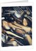 Silver cutlery by Corbis