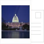 Illuminated Capitol at night, Washington D.C. by Corbis