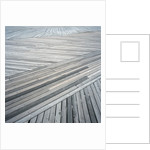 High angle view of wooden deck with planks set at an angle by Corbis