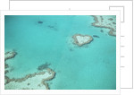 Aerial view of the Great Barrier Reef, Queensland, Australia by Corbis