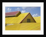 Detail view of a yellow rooftop by Corbis