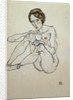 Seated Female Nude by Egon Schiele