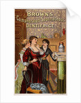 Brown's Camphorated Saponaceous Dentifrice Trade Card by Corbis