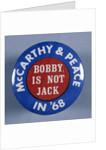 Gene McCarthy Button by Corbis