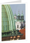 Church Dome and Bell Towers in Prague by Corbis