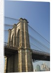 Brooklyn Bridge Tower and Lower Manhattan by Corbis