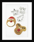 Christmas Cookies and Cookie Cutters by Corbis