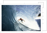 Surfing in the Tube by Corbis