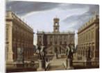 Capriccio of an Italian Palace by Pietro Francesco Garoli