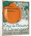 Eau de Fleurs d'Oranger Perfume Label by Corbis