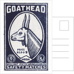 Goat Head Indian Matchbox Label by Corbis
