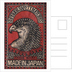 Japanese Matchbox Label with an Eagle Head by Corbis